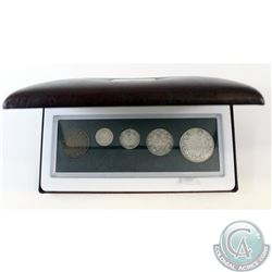 1918 Canada 5-coin Year Set in Hard Plastic Holder and Burgundy RCM Display Box.