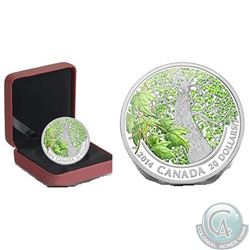RCM/Canada Post Lot of 8: 2014 $20 Fine Silver Maple Canopy - Spring Splendor (mintage 7,500), 2x 20