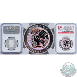 RCM Lot of 3: 2015 First Nations Art - Mother Feeding Baby Colorized Early Releases NGC Certified PF