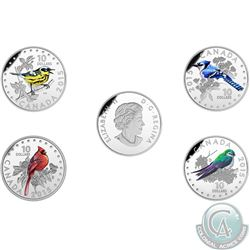 Royal Canadian Mint Lot of 4: 2015 $10 Fine Silver Coins – Colourful Songbirds of Canada: the Magnol