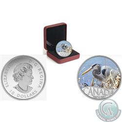 Royal Canadian Mint Lot of 3: 2017 $10 Celebrating Canada's 150th: Great Blue Heron Fine Silver Colo