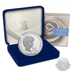 RCNA/Royal Mint Lot of 2: Royal Mint 1961-1997 Diana Sterling Silver Proof Memorial £5 Coin 38.5mm,