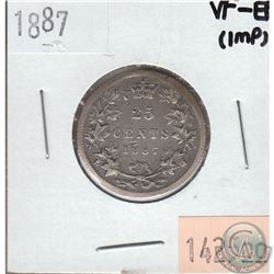 25-cent Canada 1887 VF-EF (Impaired)