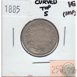 25-cent Canada 1885 Curved Top 5 Very Good (Impaired)