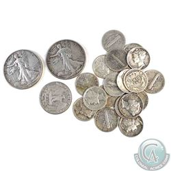 Estate Lot of USA $3.15 Face Value 10-cent, 25-cent & 50-cent Silver Coinage