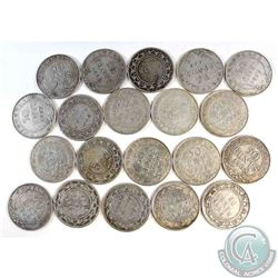 Estate Lot of 20x Newfoundland 50-cent Mixed Date Silver Coins. 20pcs