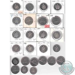 Estate Lot of Canada Nickel 50-cent & $1 Mixed Date with $17 Face Value.