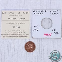 1955 Canada 1-cent PL-65; SF Cameo as stated on the holder. This coin was initially Certified by ICC