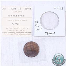 1900-H Canada 1-cent MS-63 as stated on the holder. This coin was initially Certified by ICCS, howev