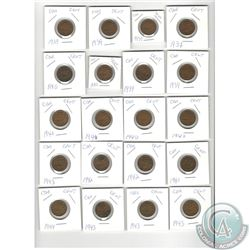 MASSIVE DEALERS LOT OF 873 COINS - Lot of 224 of Canadian Cents in cardboard holders (these have not