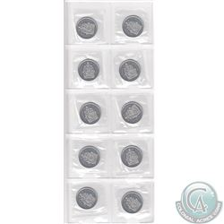 10x 2003W Canada 50cts in Proof Like Condition. 10pcs. Scarce - only available from official Mint se