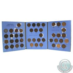 Estate Lot of 42x Canada 1-cent in Blue Whitman Book Dated 1859-1920 - Including Varieties. 42pcs an