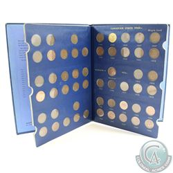 Estate Lot of Complete 53x Canada 1-cent in Blue Whitman Book Dated 1920-1969 - Including 1922-1926.