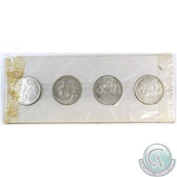 Estate Lot of 4x 1965 Canada Silver Dollars in White Cardboard Holder. You will receive V1-V4 variet