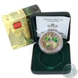 2003 Canada $5 Coloured Silver Maple Leaf (Coin has toning spots) (TAX Exempt)
