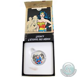 2015 Canada $10 DC Comics Originals - Legacy Fine Silver Coin (Box is stained on outside & on white