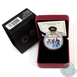 2014 Canada $20 Pond Hockey Fine Silver Coin (TAX Exempt)