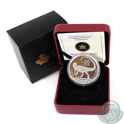 2014 $20 Dinosaurs of Canada: Scutellosaurus Fine Silver Coin (Coin is toned & residue on sleeve) (T