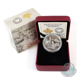 2014 $15 Exploring Canada - The Gold Rush Fine Silver Coin (Coin scratched on obverse & lightly tone