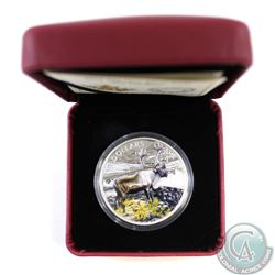 2014 Canada $20 The Caribou Fine Silver Colourized Coin (Missing outer sleeve) (TAX Exempt)