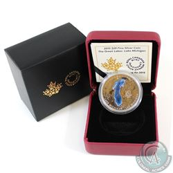 2015 Canada $20 The Great Lakes: Lake Michigan Fine Silver Coin (TAX Exempt)
