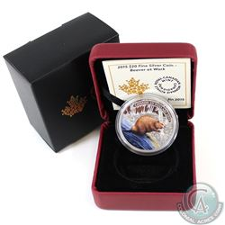2015 Canada $20 Beaver at Work Fine Silver Coin (TAX Exempt)
