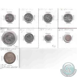 Estate lot of 9x France, India, East India, Mauritius & Great Britian Decimal Silver Coins. this lot