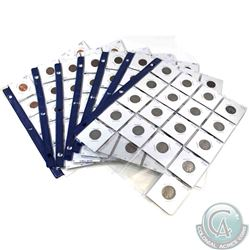 Estate lot of 129x United States 1-cent & 5-cent decimal coins. You will receive 111x USA 1-cent dat