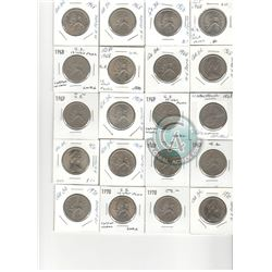 MASSIVE DEALERS LOT OF 309 COINS - Lot of 42 of Great Britain 10 Pence: 9x 1968, 6x 1969, 5x 1970, 1