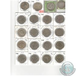 MASSIVE DEALERS LOT OF 169 COINS - Lot of 71 of Great Britain Half Crown: 1937,1943, 2x 1945, 5x 194
