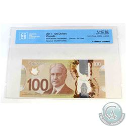 2011 Single note replacement $100.00 note, EKV(2.800M-2.801M), CCCS Certified GUNC-66