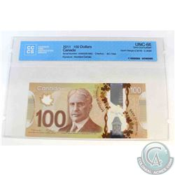 2011 Single note replacement $100.00 note, EKM(2.361M-2.362M), CCCS Certified GUNC-66