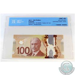 2011 Single note replacement $100.00 note, EKL(0.808M-0.809M), CCCS Certified GUNC-66