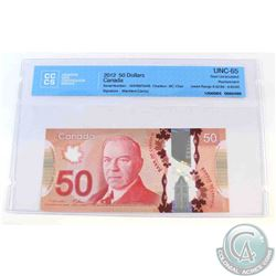2012 Single note replacement $50 note, AHV(8.823M-8.824M), CCCS Certified GUNC-65