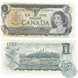 1973 Replacement $1.00 note, Prefix *IV in UNC Condition.