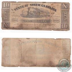 State of North Carolina $10.00 note from 1862