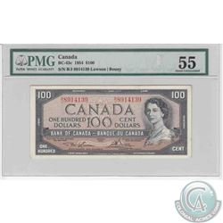 1954 $100.00 note, Lawson-Bouey signatures, PMG Certified AU-55