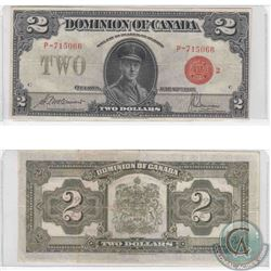 1923 $2.00 note, McCavour-Saunders Signatures, Red Seal, Group 2 in Very Fine Condition