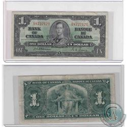 1937 $1.00 note with Osborne-Towers signatures, D/A prefix in VF condition.