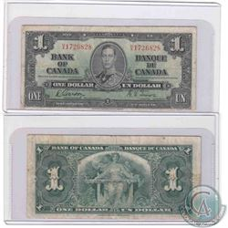 1937 Narrow Panel $1.00 note, H/A prefix in Fine condition.