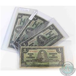Complete major type set of the 1937 $1.00 note.  Included is one of each signature as well as a H/A