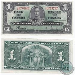 1937 $1.00 note with near serial number, all 6's and 7's.