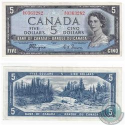 1954 Devil's Face $5.00 note with Coyne-Towers signatures