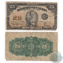 1923 25c note with 2 digit RADAR sheet number 044440 and Hyndman-Saunders signatures.