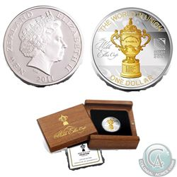 Lot of 2 New Zealand: New Zealand Post/Reserve Bank of New Zealand 2011 Rugby World Cup – Webb Ellis