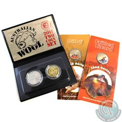 Lot of 3x Royal Australian Mint issued coins: 2009 Australia $1 Pad Printed Land Series - Bilby Coin