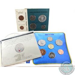 Estate Lot of 3x UK & Australia Coin Sets. You will receive 1966 Australia Mint set with Silver 50c,