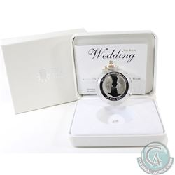 2011 Royal Mint Sterling Silver Proof Prince William & Catherine Middleton's Royal Wedding Commemora