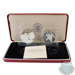 874-1974 1100th Anniversary of the settlement of Iceland 2-coin Silver Proof set