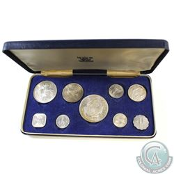 1966 Coins of the Bahamas 9-Coin Uncirculated Set (Outer Display box is starting to show some signs